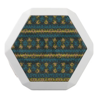 Modelo de mosaico tribal altavoces bluetooth blancos boombot REX