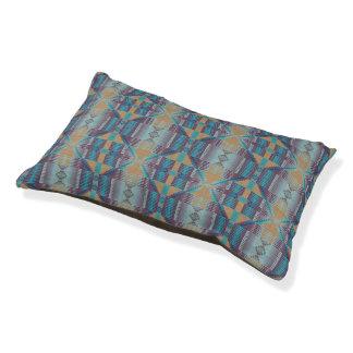 Modelo de mosaico tribal nativo del trullo púrpura cama para perro pequeño