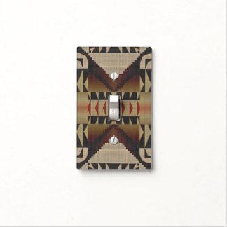 Modelo de mosaico tribal nativo rojo de color cubiertas para interruptor