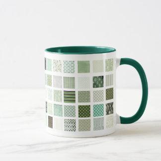 Modelo de mosaico verde del edredón