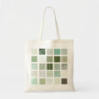 Modelo de mosaico verde del edredón bolsa tela barata