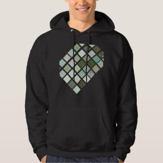 Modelo de mosaico verde del edredón jersey encapuchado