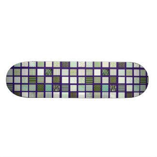 Modelo de mosaico verde del edredón tablas de patinar