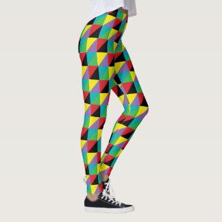 Modelo de Mosic colorido Leggings