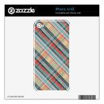 modelo de muy buen gusto colorido de la tela escoc iPhone 4 skins