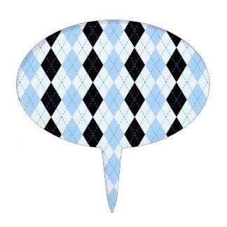 Modelo de muy buen gusto de la tela escocesa azul  palillos de tarta