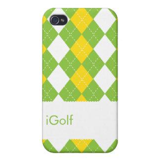 Modelo de muy buen gusto del golf de IGolf Argyle iPhone 4 Fundas
