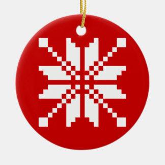 Modelo de Navidad del copo de nieve Adornos