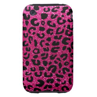 Modelo de neón de la impresión del guepardo de las iPhone 3 tough carcasas