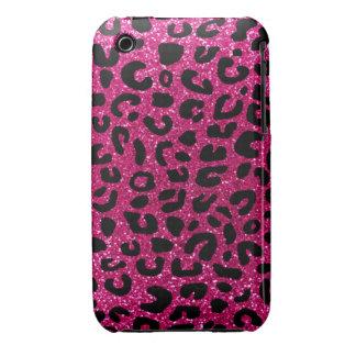 Modelo de neón de la impresión del guepardo de las iPhone 3 protector