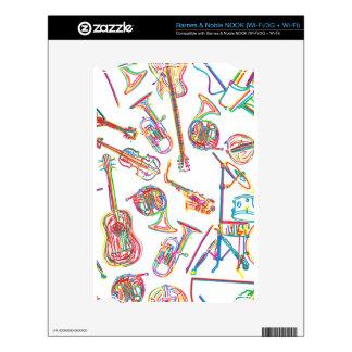 Modelo de neón de la música NOOK calcomanías