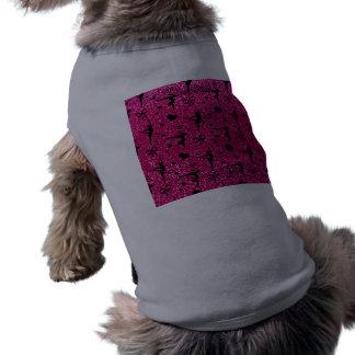 Modelo de neón del brillo de la gimnasia de las ro playera sin mangas para perro