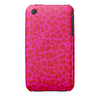 Modelo de neón del estampado leopardo de las rosas Case-Mate iPhone 3 coberturas