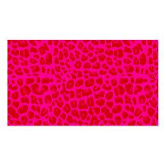 Modelo de neón del estampado leopardo de las rosas tarjetas personales