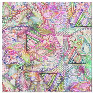 Modelo de neón femenino abstracto del bosquejo de telas