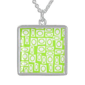Modelo de neón loco del cuadrado del círculo de la collar personalizado