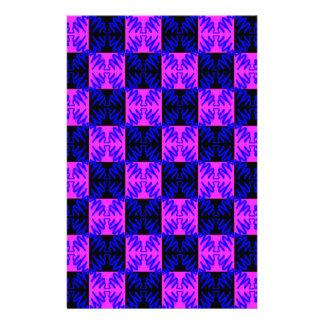 Modelo de neón óptico rosado azul de la ilusión de  papeleria de diseño