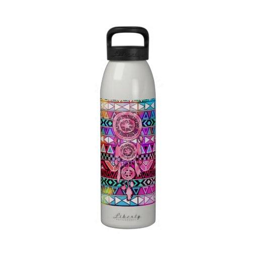Modelo de neón rosado del Azteca de Dreamcatcher l Botallas De Agua