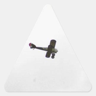 Modelo de Nieuport 28 en vuelo Pegatina Triangular