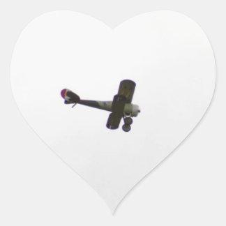 Modelo de Nieuport 28 en vuelo Pegatina En Forma De Corazón