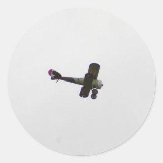 Modelo de Nieuport 28 en vuelo Pegatina Redonda