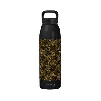 Modelo de nudos espiral céltico de oro antiguo botellas de beber