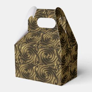 Modelo de nudos espiral céltico de oro antiguo caja para regalos de fiestas