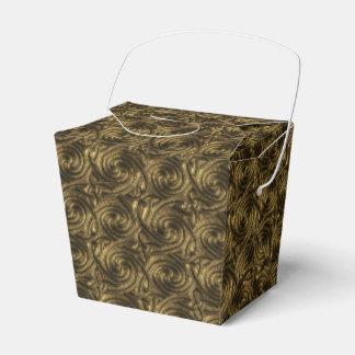 Modelo de nudos espiral céltico de oro antiguo cajas para detalles de boda