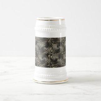Modelo de nudos espiral céltico de plata antiguo jarra de cerveza