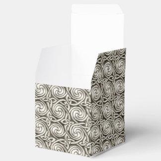 Modelo de nudos espiral céltico de plata brillante cajas para regalos de boda