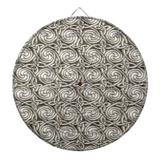 Modelo de nudos espiral céltico de plata brillante tablero de dardos