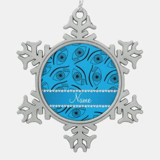Modelo de ojo conocido personalizado de azul de