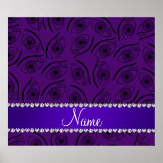 Modelo de ojo púrpura conocido personalizado póster