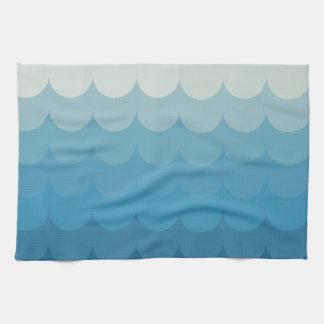 Modelo de ola oceánica azul toalla de cocina