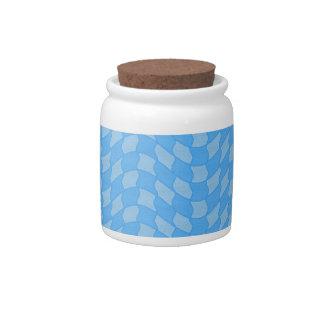 Modelo de onda a cuadros de la aguamarina plato para caramelo