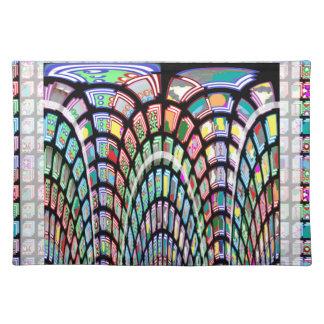 Modelo de onda abstracto miniatura de FineArt en Manteles