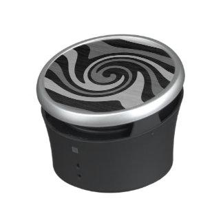 Modelo de onda abstracto moderno negro y gris altavoz