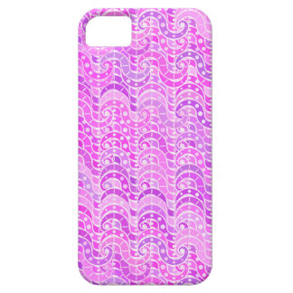 Modelo de onda abstracto - violeta, lavanda, iPhone 5 fundas