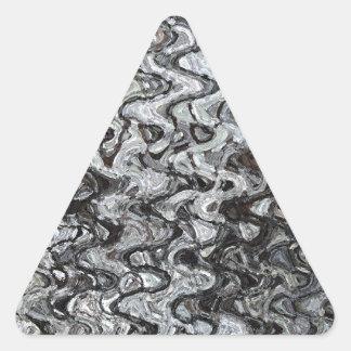 Modelo de onda asimétrico gris pegatina triangular