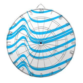 Modelo de onda azul tabla dardos