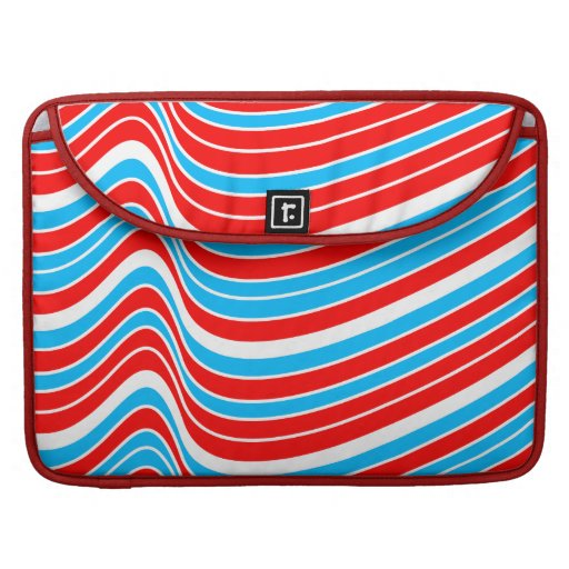 Modelo de onda azul rojo fundas para macbook pro