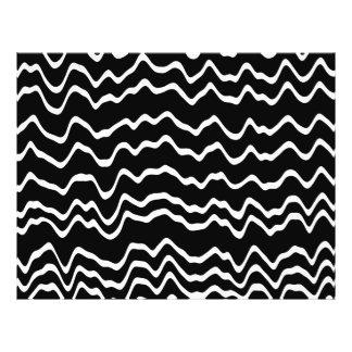 Modelo de onda blanco y negro tarjeta publicitaria