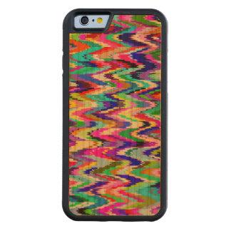 Modelo de onda colorido del mosaico #11 funda de iPhone 6 bumper cerezo