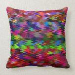 Modelo de onda colorido del mosaico #2 cojin