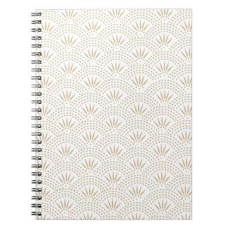 Modelo de onda de Seigaiha del art déco Cuadernos