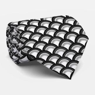 Modelo de onda del art déco - blanco y negro corbatas personalizadas