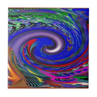 Modelo de onda del tornado azulejo cuadrado pequeño
