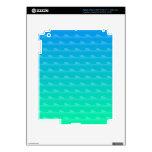 Modelo de onda del vector del mar del jade pegatinas skins para iPad 3