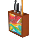 Modelo de onda dibujado por las pinturas de la acu