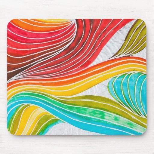 Modelo de onda dibujado por las pinturas de la acu alfombrilla de ratones